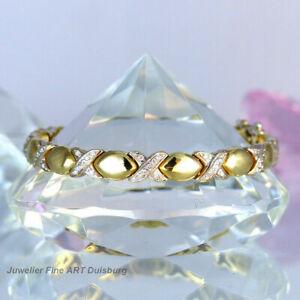 Armband in 750/- Gelb/Weißgold mit 76 Diamanten 0,76 ct. Wesselton/SI - 30,9 g