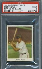 1955 Golden Stamps Monte Irvin New York Giants PSA 9 mint