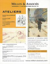 Catalogue tableau Atelier Georges Edmond Dargouge Amandine Doré Marcel Vertes