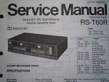 TECHNICS RS-T60R Cassette tape Deck Service manual wiring parts diagram RS-B49