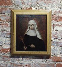 17th Siècle Italien Vieux Maître -portrait de un Nonne - Huile Peinture