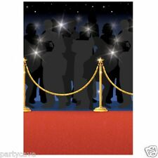 HOLLYWOOD PARTY MOVIE AWARDS VIP RED CARPET ROOM ROLL WALL SCENE DECORATION