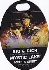 BIG & RICH  Concert Backstage Pass Staff or Meet & Greet Laminate