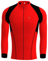 Mens Cycling Jersey Long Sleeve Winter Wear Thermal Fleece Top For Bike Racing