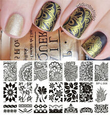 Nagel Schablone BORN PRETTY L008 Nail Art Stamp Stamping Template Plates