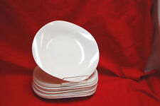 "1-Set of 12 / Zenix Luminarc VOLARE 8-1/2"" White DESSERT PLATES (NEW) (#S8254)"
