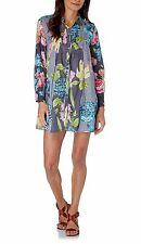 HHG tunic dress tunica mini abito vestito camicione donna cotone fantasia M BNWT