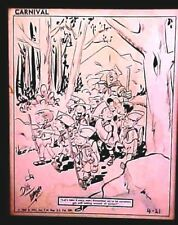 Original Signed Comic Art Boy Scouts Dick Tuloy Levo 1965 Nea Carnival Magazine