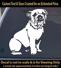 Bulldog 6 inch vinyl decal pet dog lovers animals sticker for ur car truck home