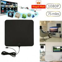 2018 NEW Digital HDTV TV Antenna Amplified 75 Mile Range 4K HD VHF UHF Freeview