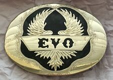 VTG Very Rare DUCATI EVO Super Bike Motorcycle Numbered Handcrafted BELT BUCKLE