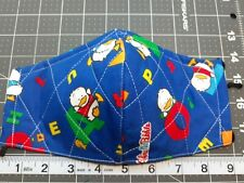 1 Triple Layer QUILTED Cotton Face Mask w/ Nose Wire - Sanrio AHIRU NO PEKKLE ♤