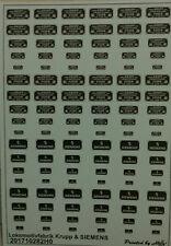 Lokomotivfabrik Krupp & Siemens Decals 1:87 oder H0