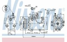 NISSENS Compresor, aire acondicionado SUZUKI SX4 SWIFT 89349