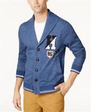 Tommy Hilfiger Shawl-Collar Fleece Cardigan Varsity Blue Mens Size Small
