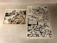 Anthro #5 original art PG #13,14 BATTLES MEDICINE MAN 1969 HOWIE POST DC caveman