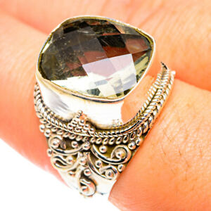 Green Amethyst 925 Sterling Silver Ring Size 8.25 Ana Co Jewelry R75370