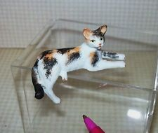 Miniature Calico Tabby Cat with DRAPING LEG: DOLLHOUSE Miniatures 1/12 Scale