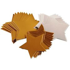 50 Gold and Silver Card Stars Pack 3 sizes Crafts Tags Decoration