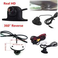 1x 360° HD 600TVL Car Front Side Rear View Reverse Camera Parking Kit Waterproof