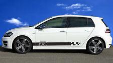 VW Volkswagen Logo Rayures Golf Polo Course Scirocco Beetle Up! Autocollants