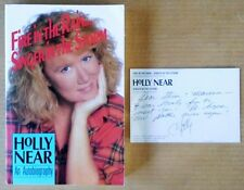 HOLLY NEAR - FIRE IN THE RAIN... - AUTOGRAPHED PAPERBACK + INSCRIBED POSTCARD