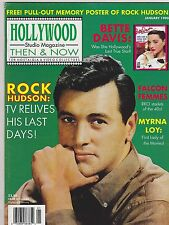 JAN 1990 HOLLYWOOD STUDIO vintage movie magazine ROCK HUDSON - BETTE DAVIS