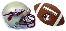 FLORIDA STATE SEMINOLES MAGNET 2 PC SET-FLORIDA STATE HELMET & FOOTBALL MAGNET