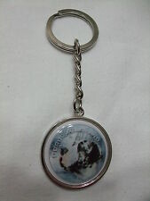 Porte-clés en métal - chien DOGUE ALLEMAND ARLEQUIN