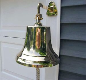 Ships Bell - Large - Solid Brass w/Mounting Bracket  NEW