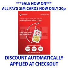 VODAFONE PAYG 1 SIM CARD **NOW ONLY 20p** (DISCOUNT APPLIED AT CHECKOUT)