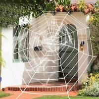 Hot Creepy HALLOWEEN SPIDER WEB Spooky Outdoor Indoor U1E4 Decoration B7A1