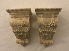 One Pair of  Large Pretty Curtain Rod Sconces VINTAGE STYLE