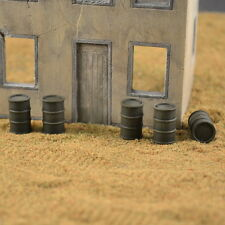 #7210 Plaster 1/72 US Oil Drums, 15 Pieces Produits MP Wargames fuel barils