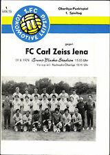 OL 78/79 1. FC Lok Leipzig - FC Carl Zeiss Jena, 19.08.1978, Heinz Joerk