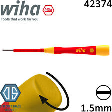 Wiha 42374 1.5mm Slotted Flat Pico Finish VDE Electric Screwdriver New Design