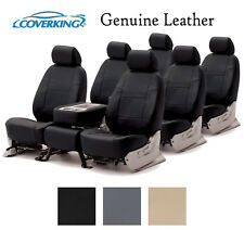 Coverking Custom Seat Covers Genuine Leather 3 Row Set - 3 Color Options
