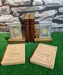 Vintage John Waddington Playing Cards X 2 & Bridge Score Pads Rules In Book Case
