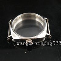 44mm Parnis 316L Polished vintage Watch CASE fit ETA 6498 6497 movement C036