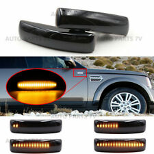 2x Dynamic Smoked LED Side Marker Light Sequential for Range Rover LR2 LR3 LR4