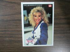 1992 Lime Rock #P1 Amy Merriman-Lemon Dallas Cowboys Cheerleaders Promo Card B17