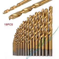 19Pcs High Speed DMD Diamond Tipped Drill Bit Set Twist Drill Bits Glass Tile
