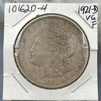 1921-D Morgan Silver Dollar $1 90% US Collectible Coin VG-F #101620-4