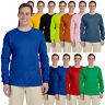 Gildan Ultra Cotton Mens Crewneck Long Sleeve T-Shirt S-5XL 2400 G240