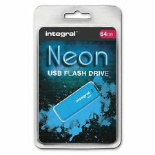 Integral 64GB Neon USB Flash Drive in Blue, a GADGET SHOW AWARD WINNER
