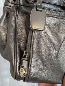 🪐Incredible Genuine Designer B Makowsky real Leather metallic bag £169 rare🪐