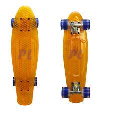 22'' Short Board Cruiser Skateboard LIGHTING WHEELS-CLEAR YELLOW