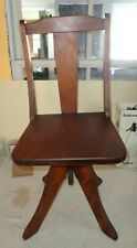 Antique Empire Piano School Youth Child Stool Chair Seat Paris Maine wood