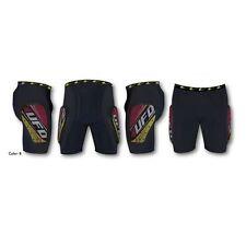 """Pantaloncino Ufo Moto """"Kombat"""" per Adulti con protezioni Giallo Rosso TG XS"""