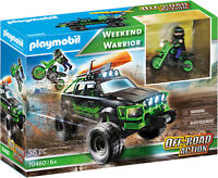 PLAYMOBIL Weekend Warrior Off Road Action Truck, Motorbike, Canoe 70460 58pc NEW